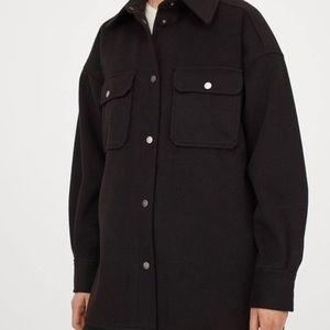 H&M Black Shacket Shirt Jacket NWT